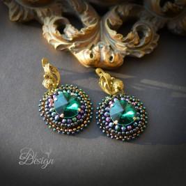 """Auskarai """"Emerald shine"""""""