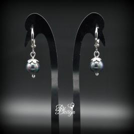 Juodųjų perlų auskarai